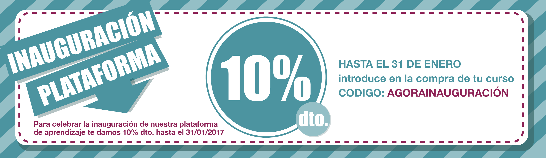 Inauguración de la plataforma de Agora Espacio de Formación Feminista con 10% de descuento hasta el 31 de enero