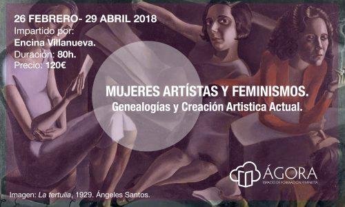 Mujeres artistas y feminismos curso