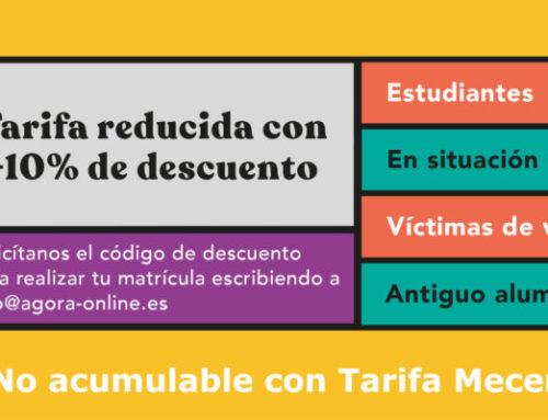 En nuestros cursos -10% para desempleadas, estudiantes, víctima de violencia de género, antiguas alumnas y colegiadas en CoPESA